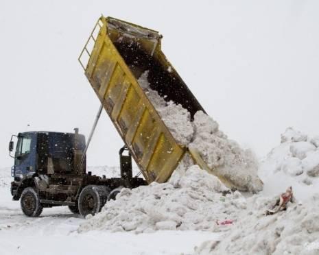 На снежном полигоне Саранска начались проблемы