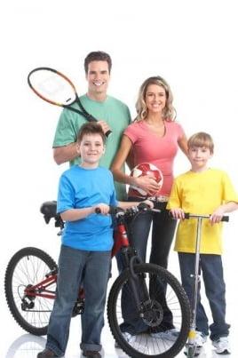 Спортивная семья постер