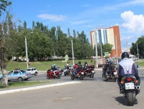 В Саранске впервые прошел организованный мотопробег