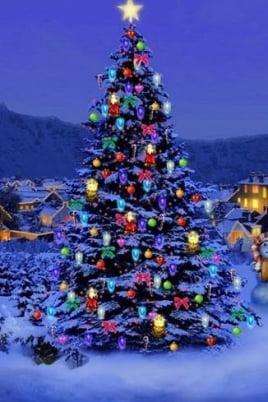 Новогодняя елка постер