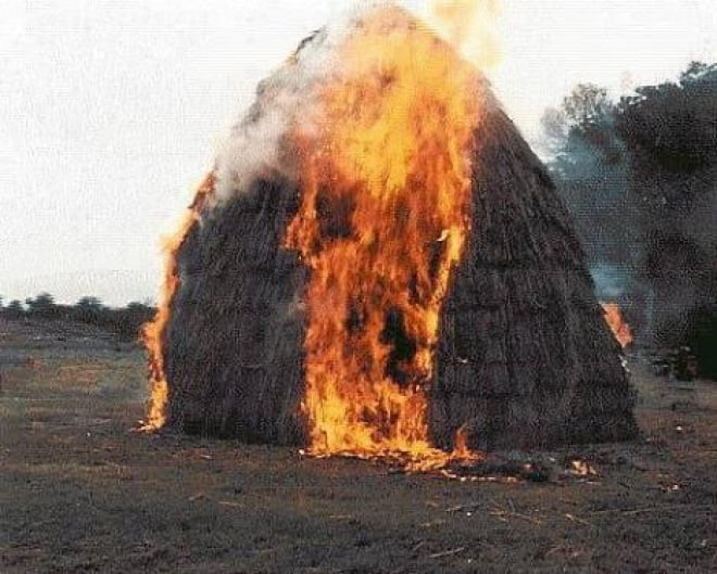 В Краснослободском районе Мордовии неизвестный поджигатель уничтожает сено