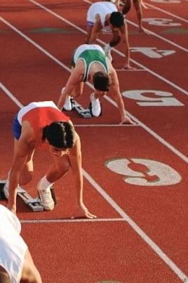 Легкоатлетический пробег постер