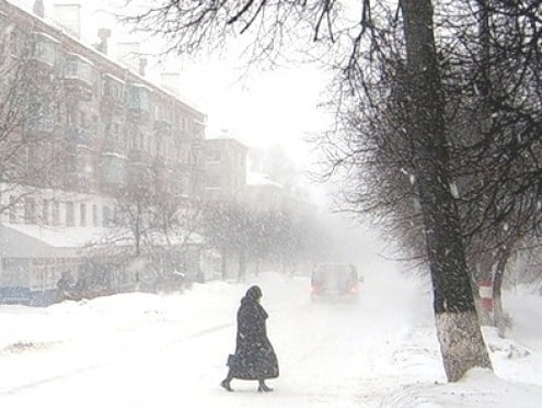 До Мордовии дошел мощный снежный циклон