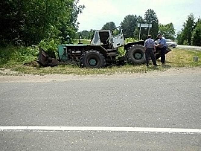 В Мордовии пьяный водитель «перевернул» трактор