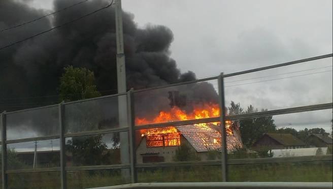 Серьезный пожар произошел в Старошайговском районе