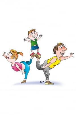 Семейная гимнастическая эстафета постер
