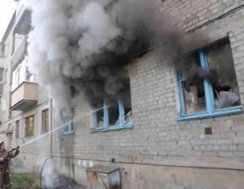 В Ромоданове горел многоквартирный дом