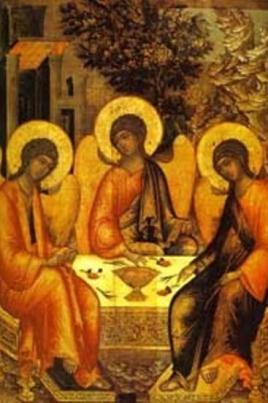 Православный праздник День Святой Троицы постер