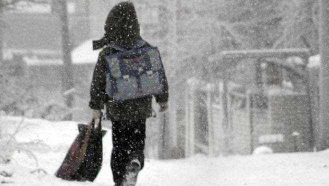 Младшие школьники в шести районах Мордовии остались дома из-за мороза
