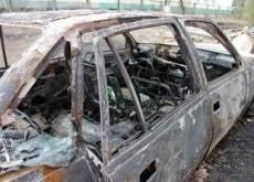 В Саранске снова сгорел автомобиль