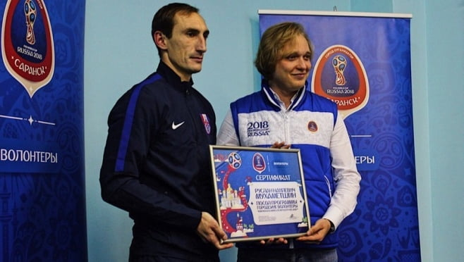 Игрок ФК «Мордовия» стал первым послом программы городских волонтёров