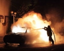 В Мордовии ночью горели автомобили