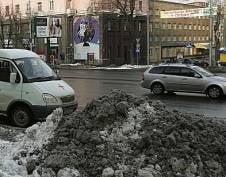 В Саранске будут штрафовать за грязный снег