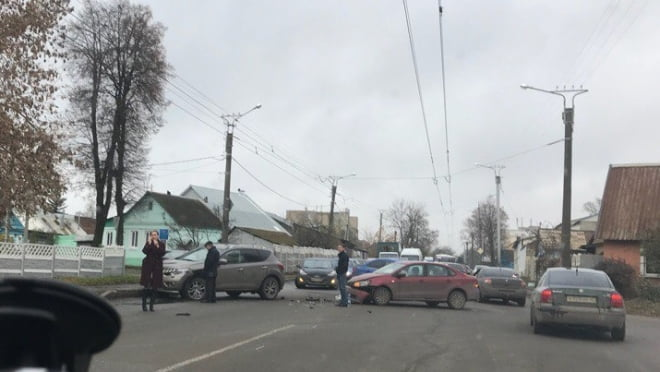 Пенсионер в Саранске не пропустил автоледи и устроил тройное ДТП