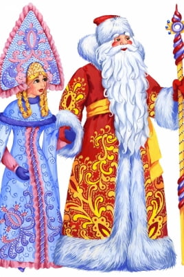 Уголок Деда Мороза и Снегурочки постер
