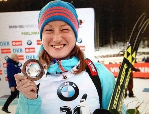 Ольга Подчуфарова стала лучший среди россиянок на Кубке мира по биатлону