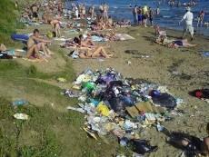 В Саранске пляж Луховского пруда превращается в свалку