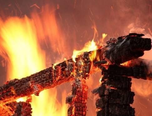 В Мордовии огонь уничтожил бани на 1,5 млн рублей