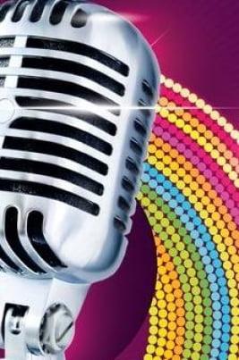 Караоке и дискотека постер