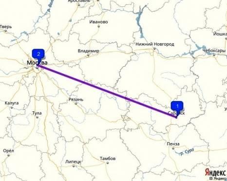 Попасть из Саранска в Москву можно будет менее чем за 2 часа