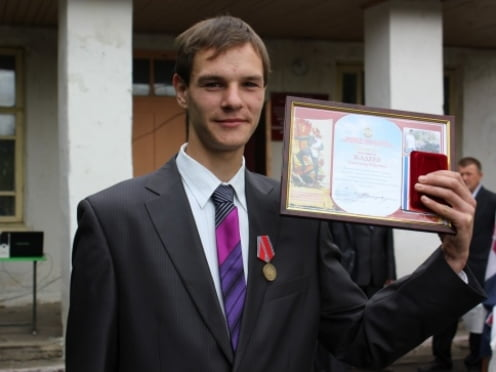 В Мордовии школьника наградили за отвагу