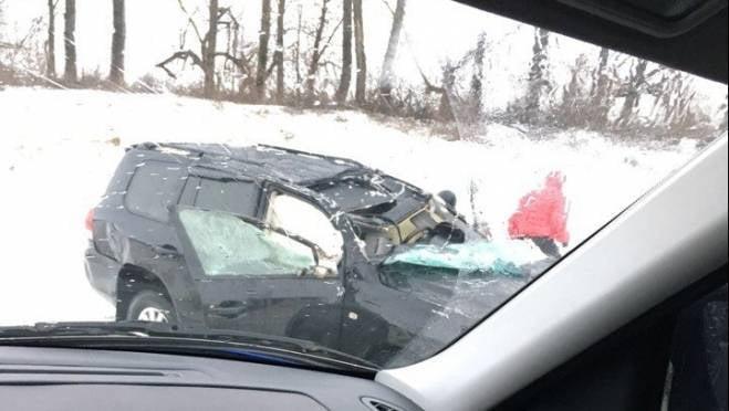 «Land Cruiser» перевернулся на трассе «Саранск — Рузаевка», один человек пострадал