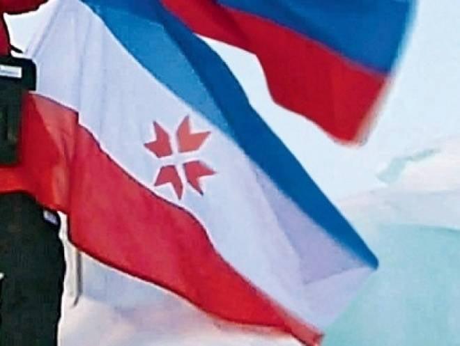 Флаг Мордовии установлен на вершине мира