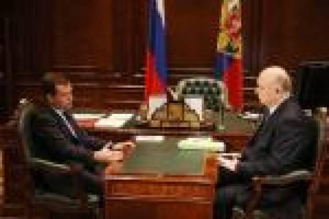 Сегодня в Кремле Глава Мордовии Николай Меркушкин встретился с Дмитрием Медведевым