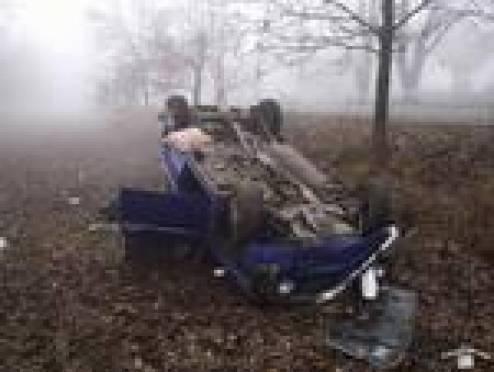 В Мордовии пьяный водитель опрокинулся в кювет