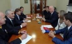 Глава Мордовии встретился со спортсменами-ходоками и их тренером