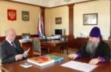 Глава РМ Николай Меркушкин встретился с Митрополитом Саранским и Мордовским Варсонофием